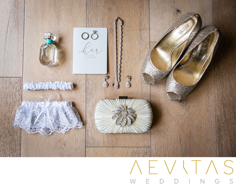 Bride's details at Ebell wedding by LA photographer