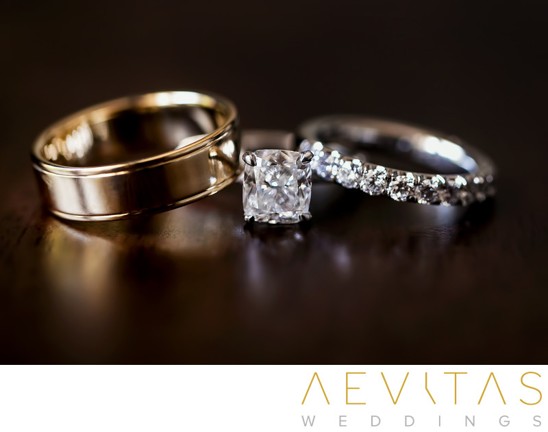 Wedding ring details at Ebell Los Angeles photographer