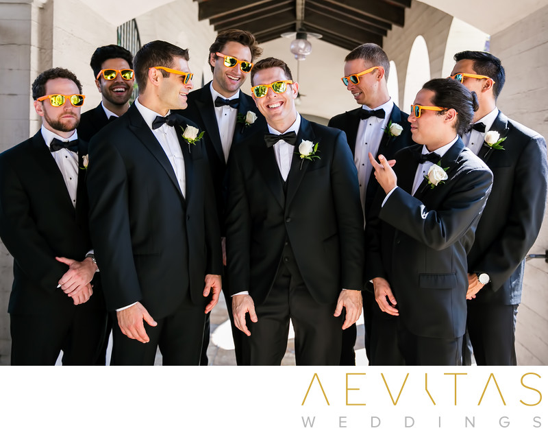 Groomsmen with sunglasses The Ebell of Los Angeles