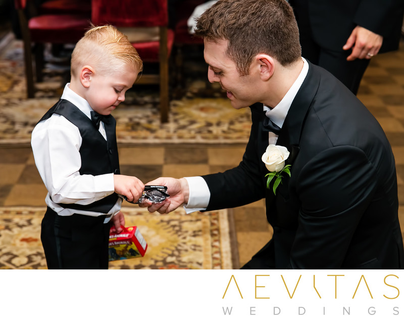 Groom and young wedding guest The Ebell of Los Angeles