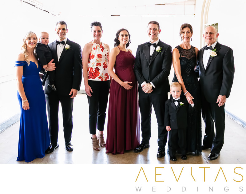 Groom with family at The Ebell of Los Angeles