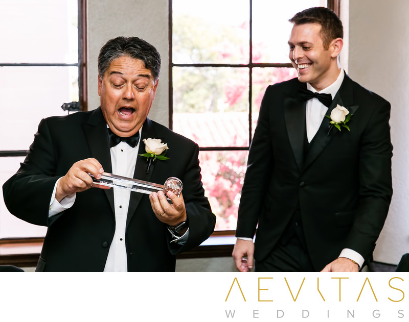 Father reacts to gift from groom at The Ebell of LA
