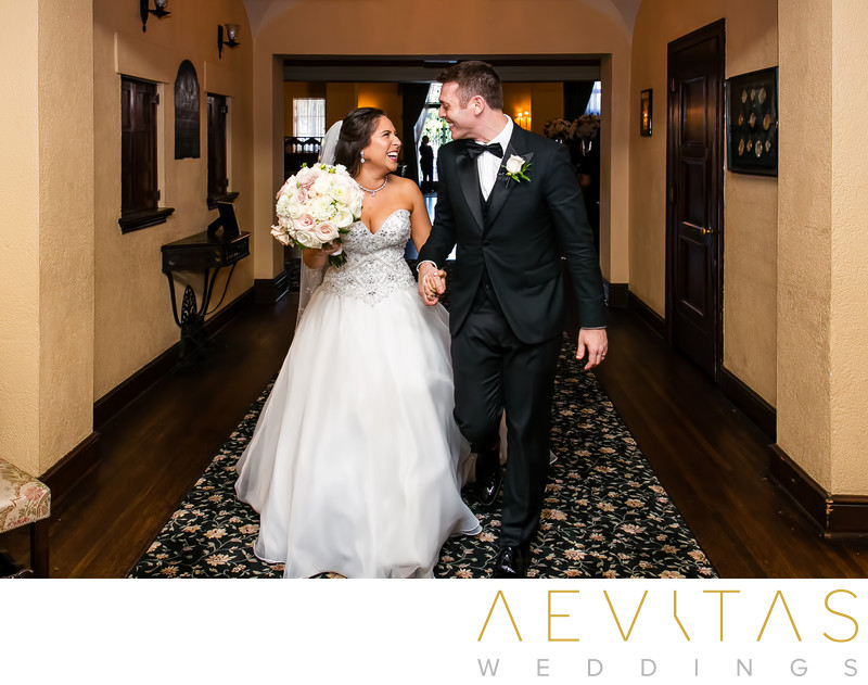 Couple walking through hall at The Ebell of Los Angeles