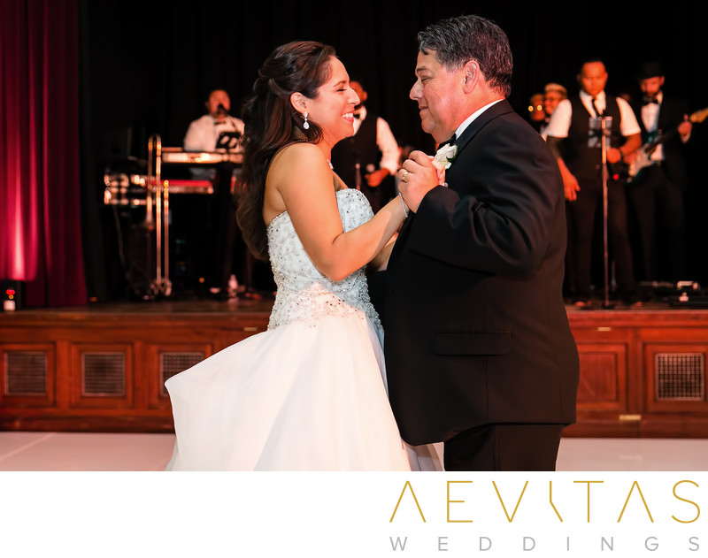 Father-daughter dance with band at The Ebell of LA