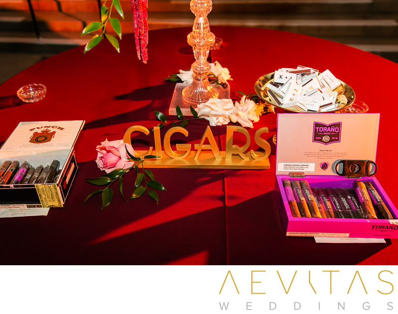 Cigar station at The Ebell of Los Angeles wedding