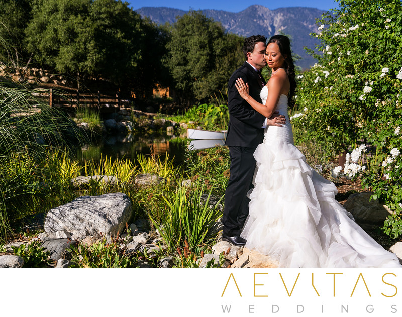 Gorgeous couple portrait at Serendipity Garden Weddings