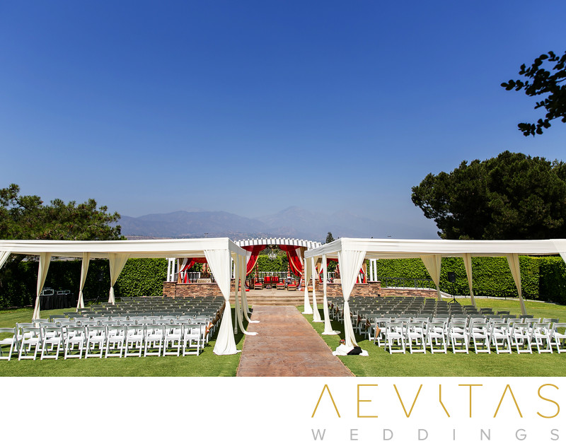 Garden wedding venue at Mountain Meadows Golf Course