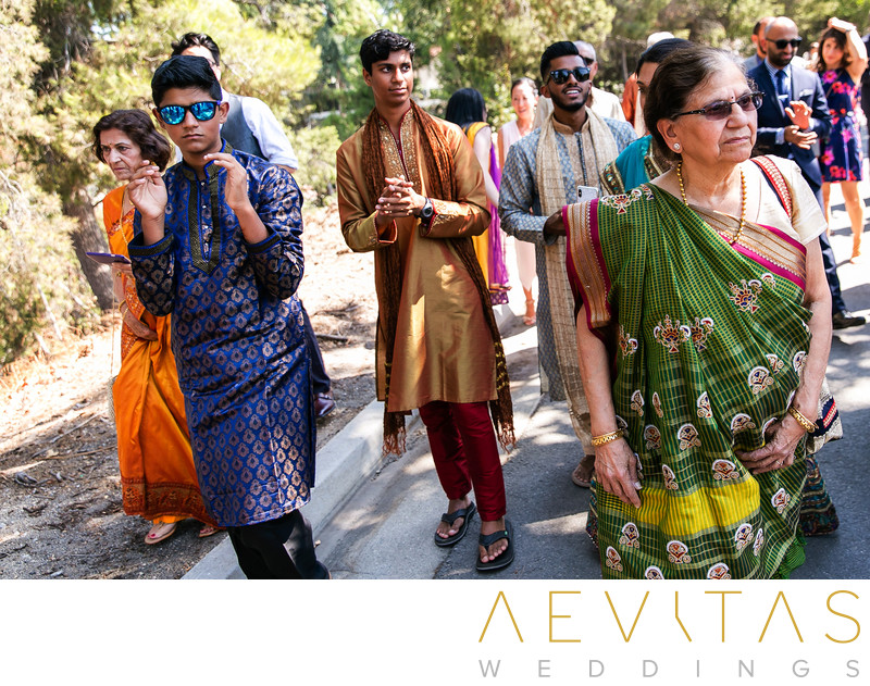 Indian wedding Baraat procession in Southern California