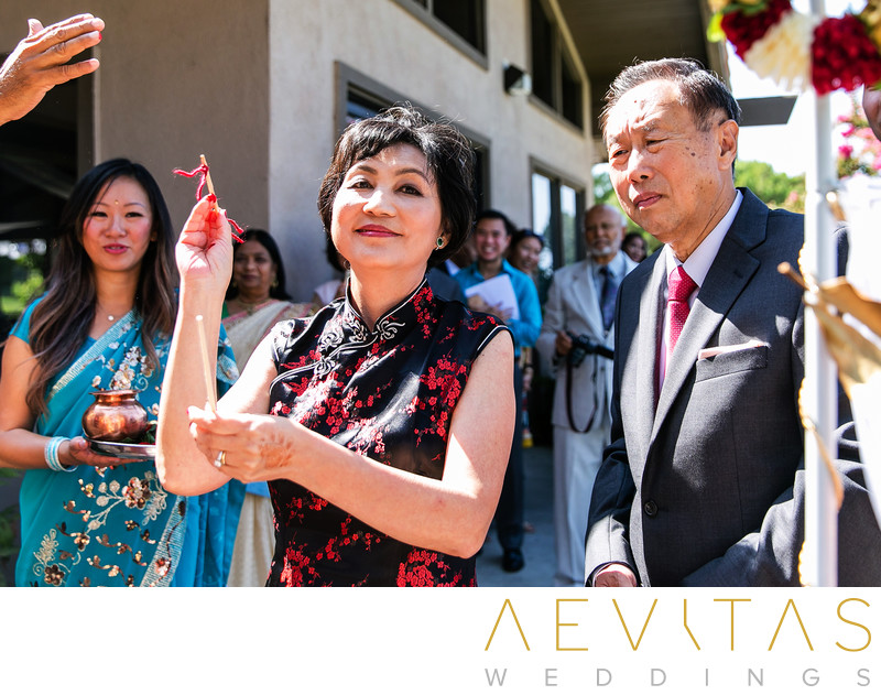 Parent reactions at multicultural wedding in Pomona