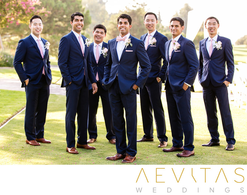 Casual groomsmen portrait at Mountain Meadows