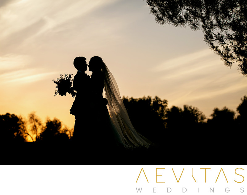 Couple silhouette at Mountain Meadows Golf Course