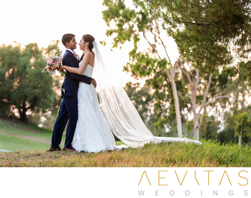 Couple embrace photo at Mountain Meadows Golf Course