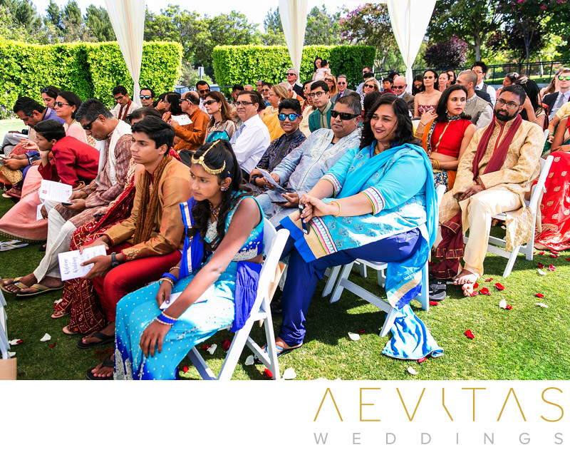 Wedding guest reactions at Pomona Hindu ceremony