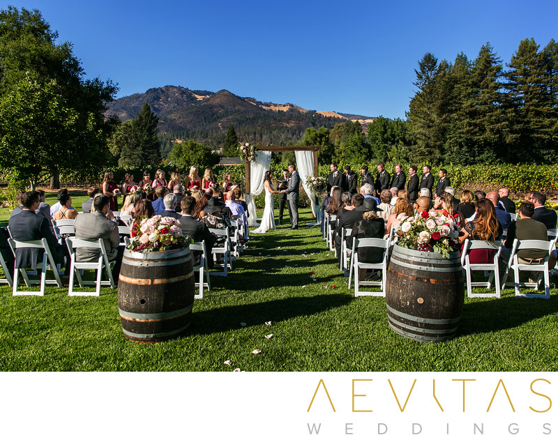 Gorgeous wedding ceremony at Landmark Vineyards