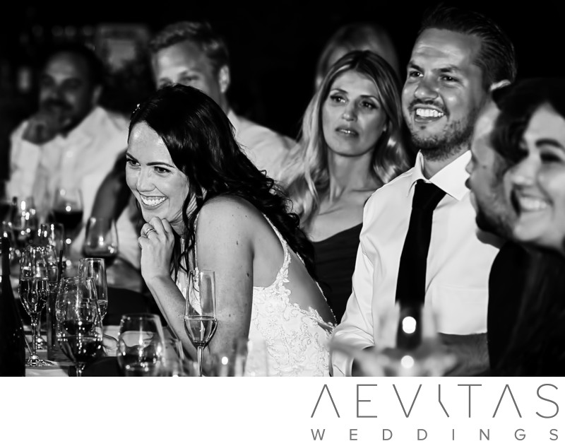 Black and white couple reactions at Kenwood reception