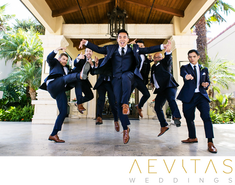 Martial arts groomsmen portrait by LA photographer
