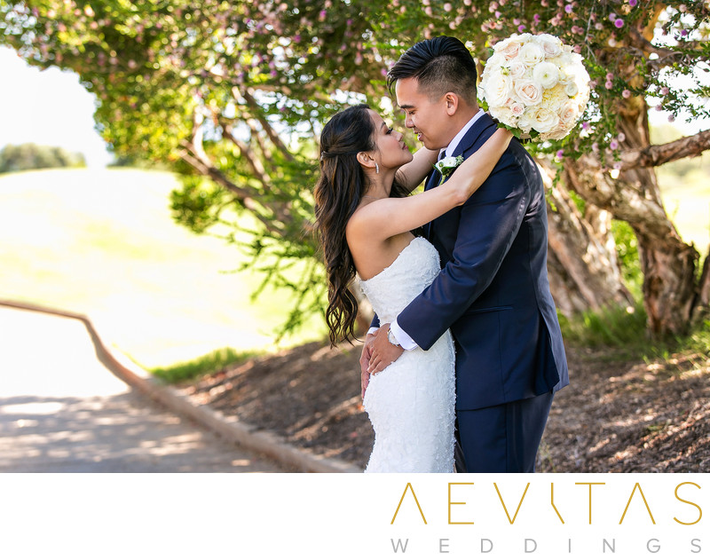 Intimate couple portrait at Trump National Golf Club