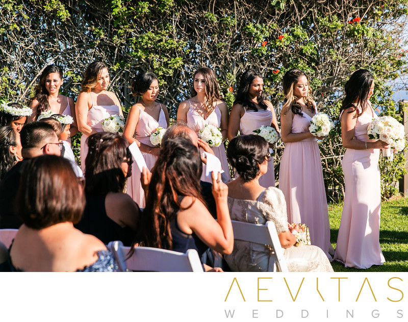 Bridesmaids Trump National Golf Club wedding ceremony