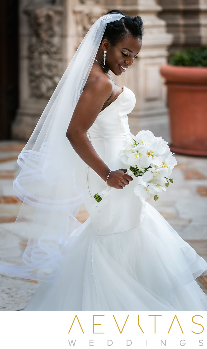 Beautiful bride portrait at Mission Inn Hotel and Spa