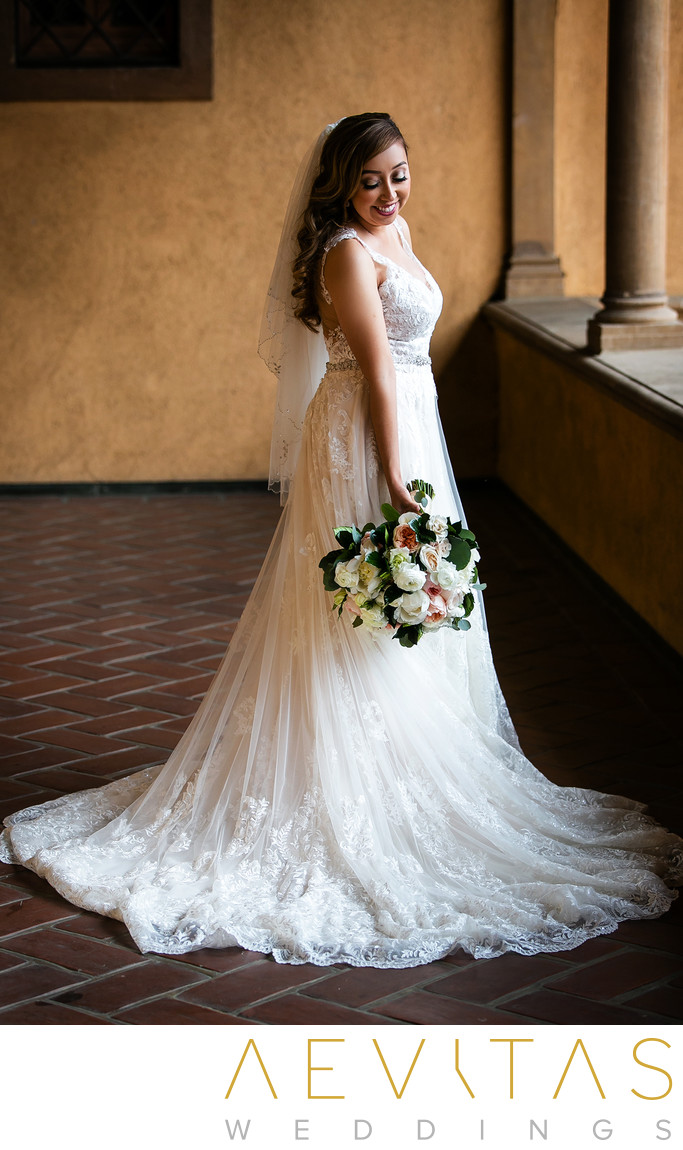 Stunning bride portrait at Villa Del Sol D'Oro