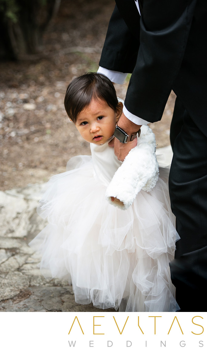 Cute flower girl photo at Villa Del Sol D'Oro wedding