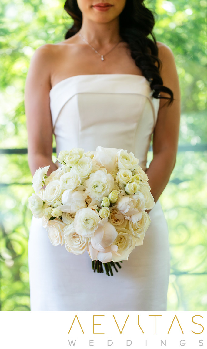 Creative bride bouquet wedding photo in Los Angeles