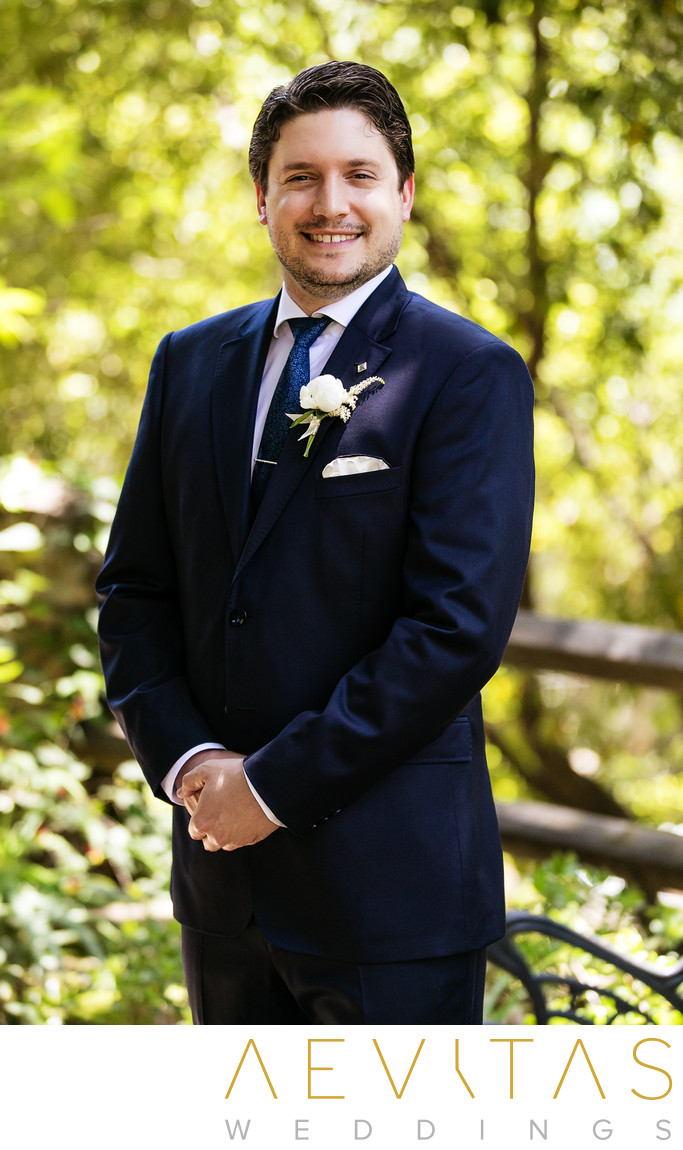 Groom portrait at The Houdini Estate in Los Angeles