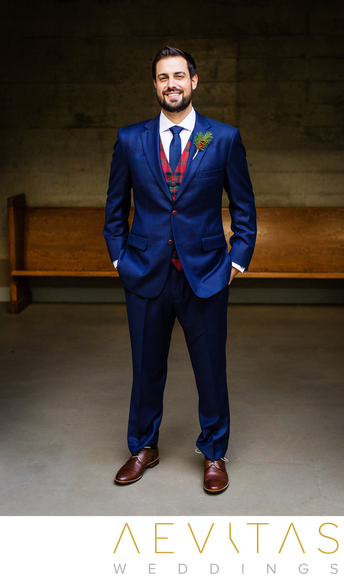 Groom portrait at First Congregational Church of LA