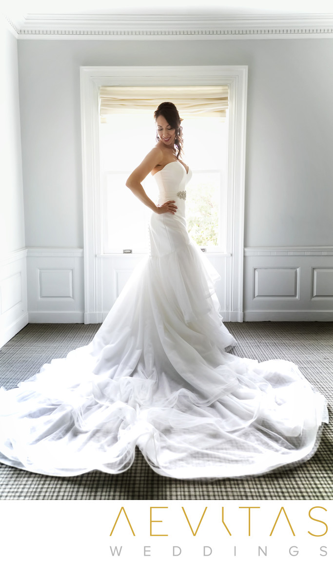 Stunning bride portrait at Marion Davies Guest House