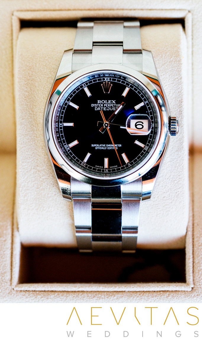 Groom's watch detail by LA wedding photographer