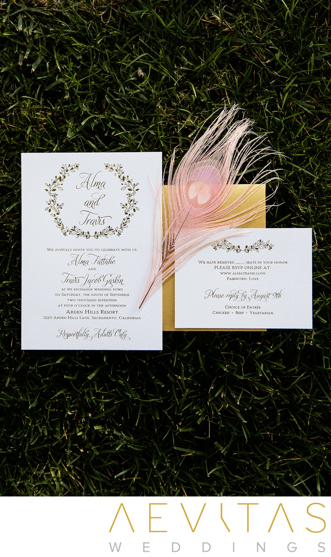 Invites for Arden Hills Resort Club And Spa wedding