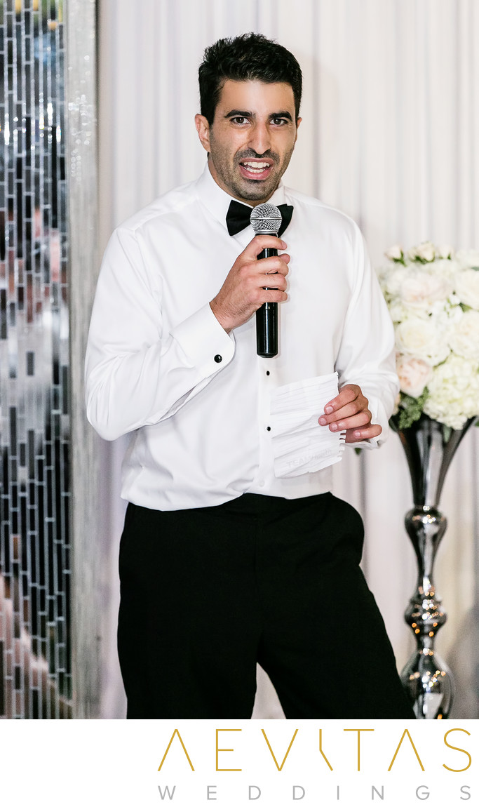 Best man speech at Vertigo Event Venue reception