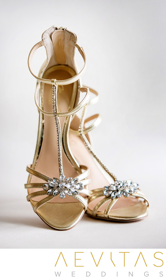 Bride shoes details photo by LA wedding photographer