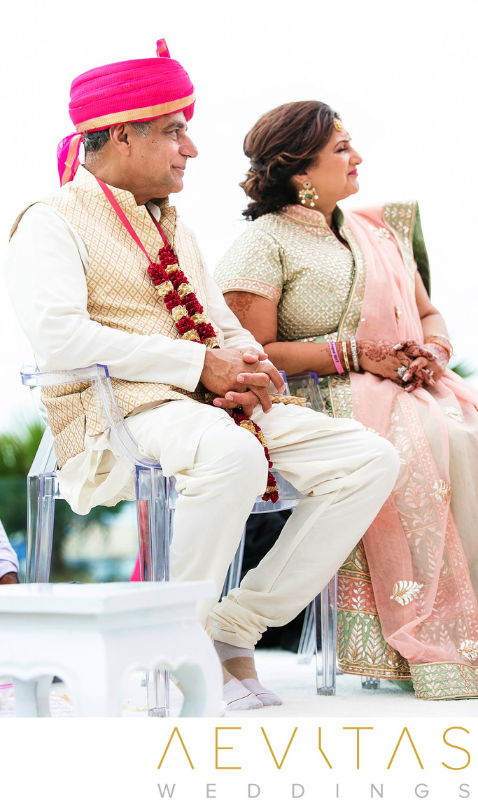 Parents watch Hindu wedding at Pasea Hotel And Spa