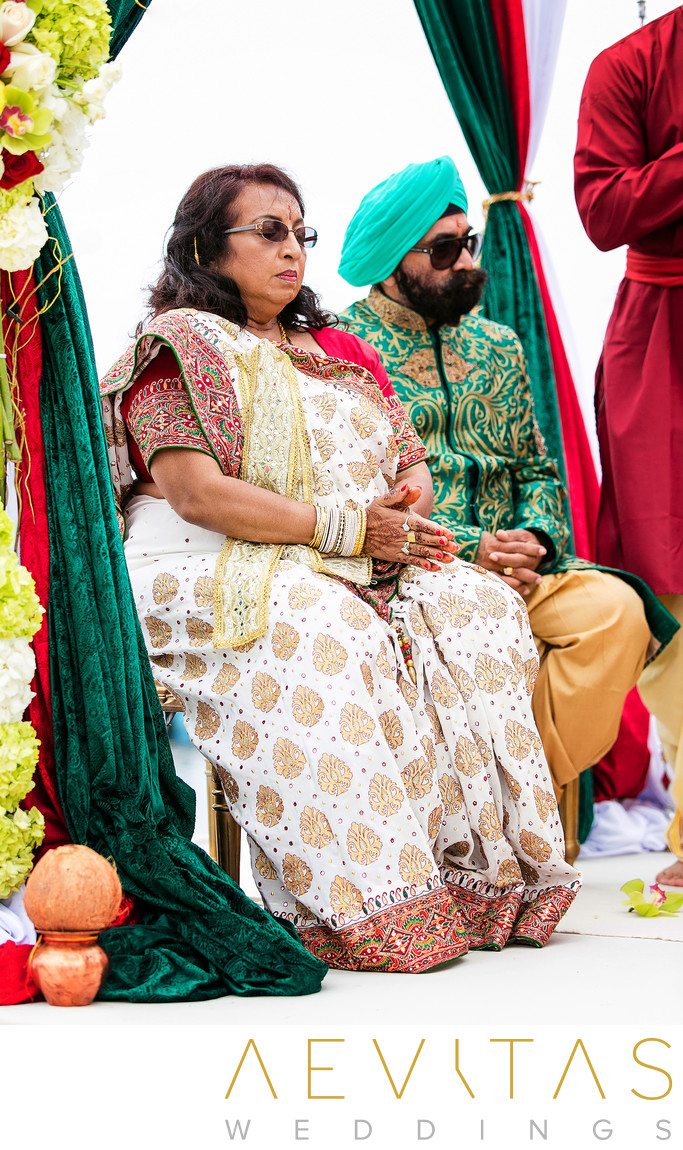 Parents-of-the-bride at Indian wedding in San Diego
