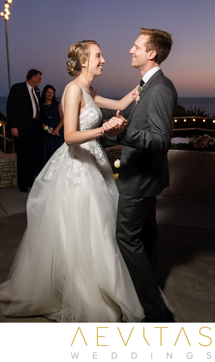 Couple first dance at Point Vicente wedding reception