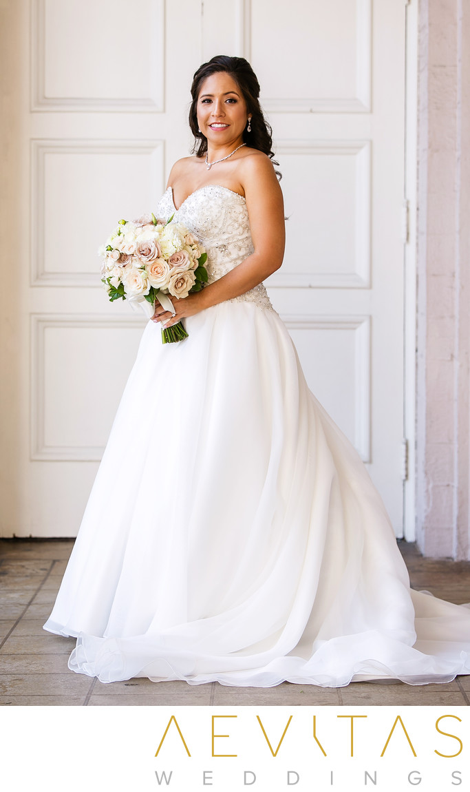 Gorgeous bride portrait at The Ebell of Los Angeles