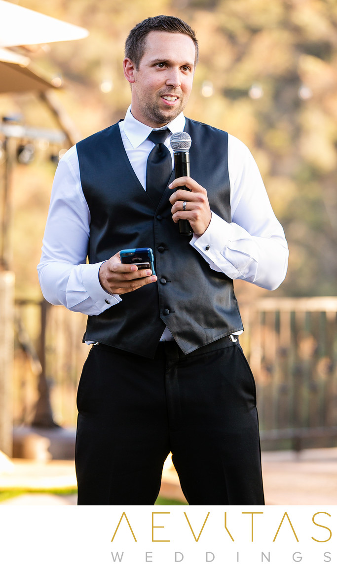 Best man speech at Serendipity Garden Weddings