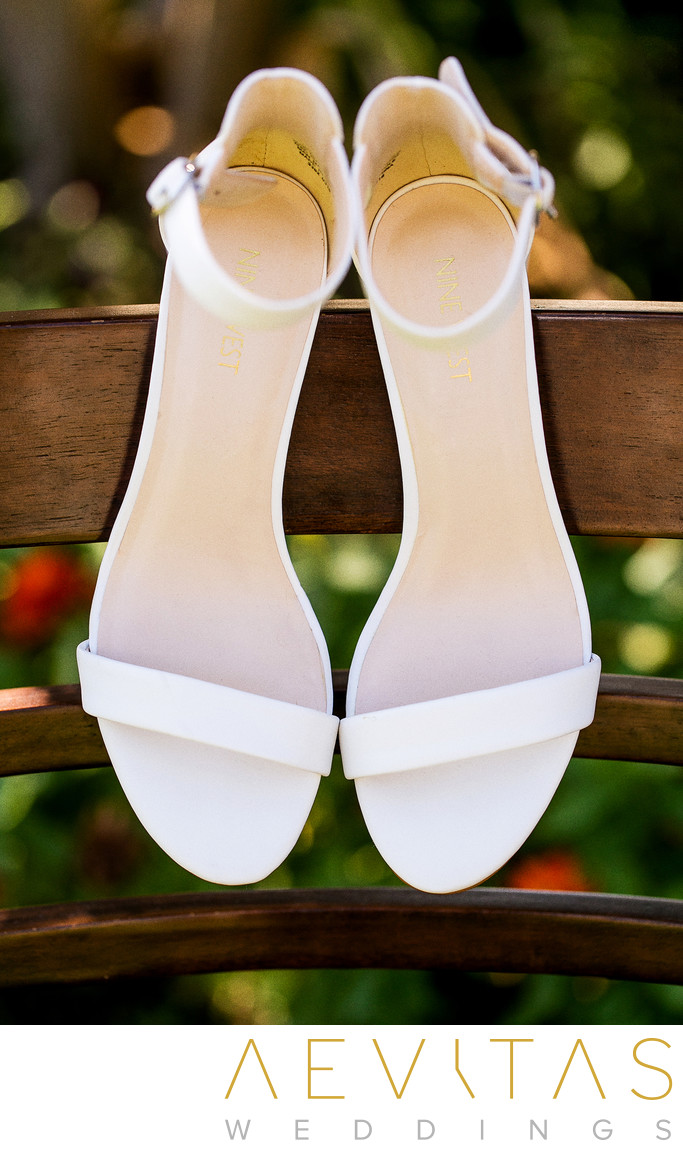 Bride's wedding shoes by Kenwood photographer