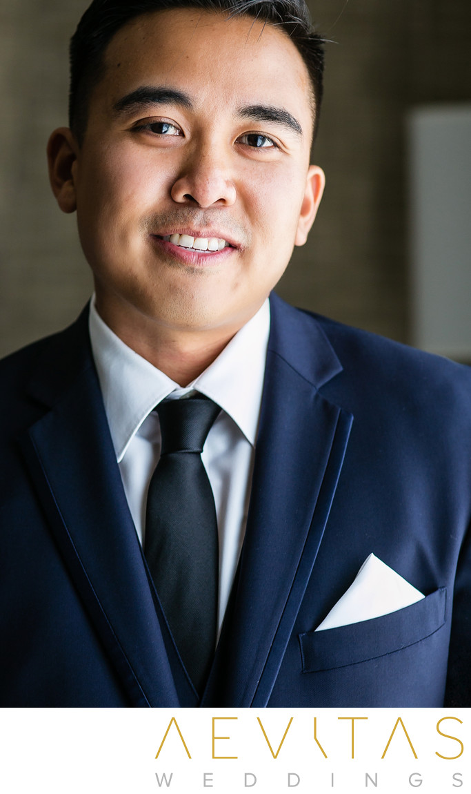 Groom portrait by Rancho Palos Verdes photographer