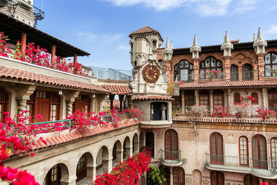 Charming architecture at the Mission Inn and Spa