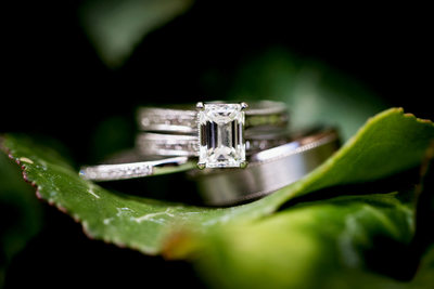 Wedding rings details shot by Riverside photographer