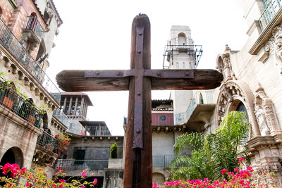 Wooden cross at Mission Inn Hotel in Riverside