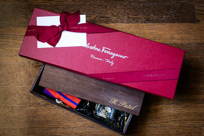 Wedding day gift by Salvatore Ferragamo