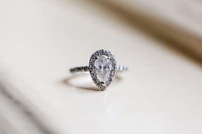 Details shot wedding ring by Los Angeles photographer