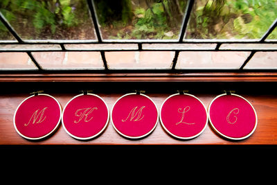 Details photo of bridesmaids gifts by LA photographer