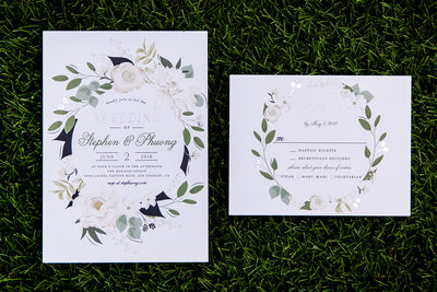 Wedding invites by The Houdini Estate photographer
