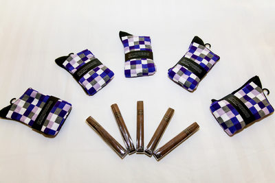 Socks and cigar groomsmen gifts at Irvine wedding