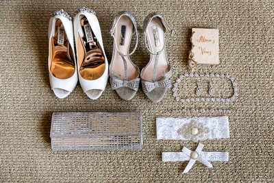 Bride's accessories by Sacramento wedding photographer
