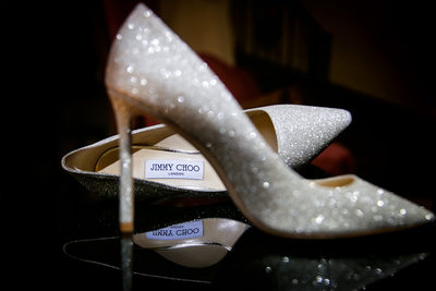 Jimmy Choo shoes by LA wedding photographer